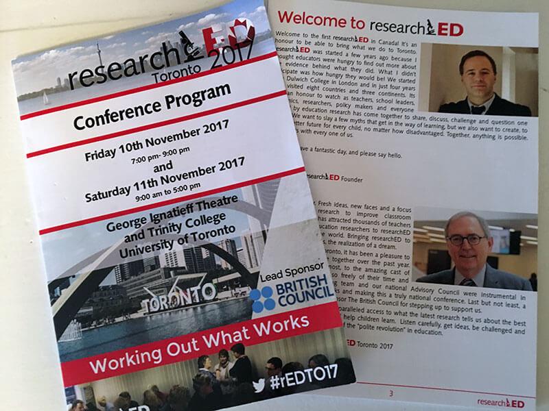 Research ED Toronto 2017